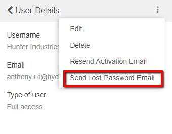 resend activation email