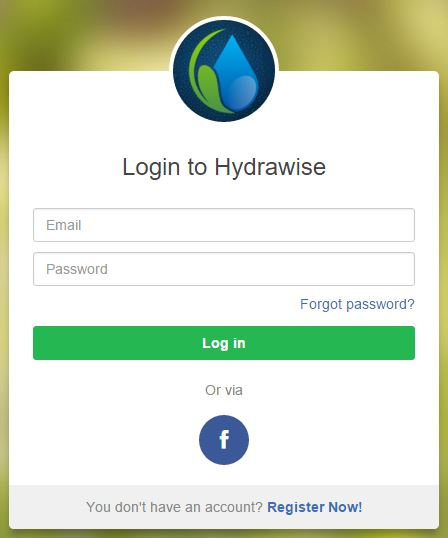 Account - Resetting Password – Hydrawise